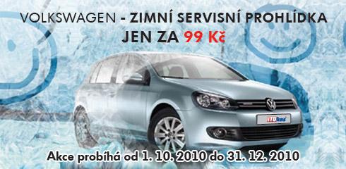 Zimní servisní prohlídky vozů Praha akce 99,- Kč