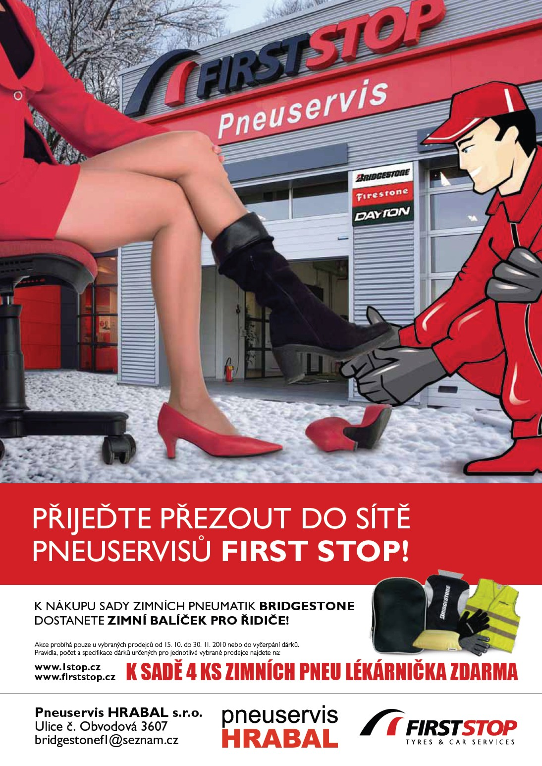 Akce přezouvání pneumatik, zimní pneu, lékárnička zdarma Kroměříž