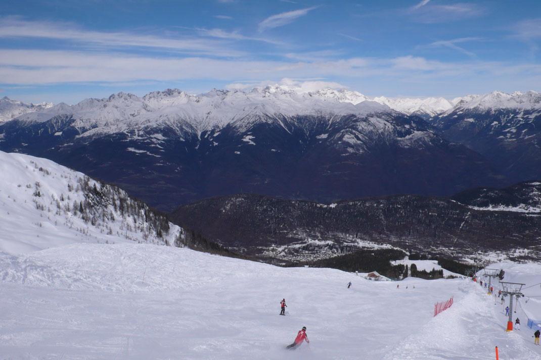 Zima lyžování Itálie a Rakousko