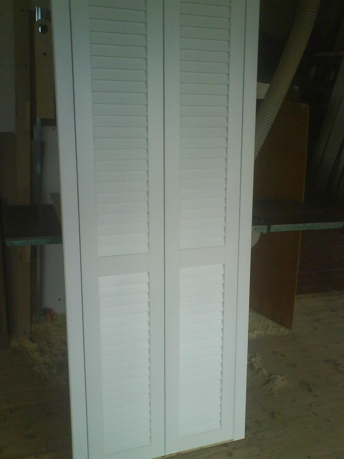 Výroba lamelovách dveří