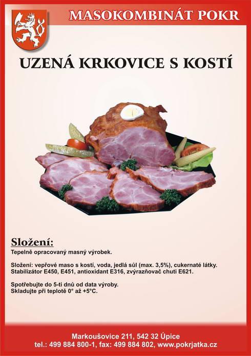 Výroba prodej masné výrobky salámy párky klobásy šunka Trutnov