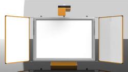 Příslušenství pro interaktivní tabule - rám s keramickými křídly
