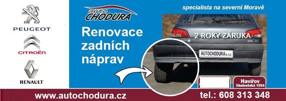 Opravy, renovácie, repasy zadných náprav Peugeot, Renault, Citroën Česká republika