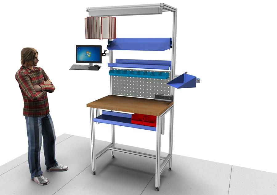 Štíhlá výroba – ergonomická pracoviště přesně na míru