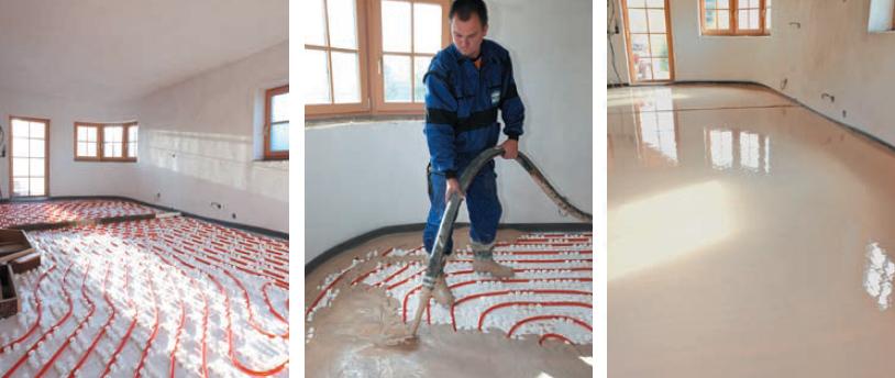 KVK Anhydritové podlahy, samonivelační, lité, anhydritový potěr