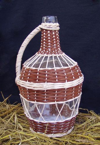 Oplétání demižónů, ozdobné oplétání láhví Uherské Hradiště