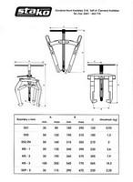 Výroba dvouramenné tříramenné stahováky ke stahování ložisek