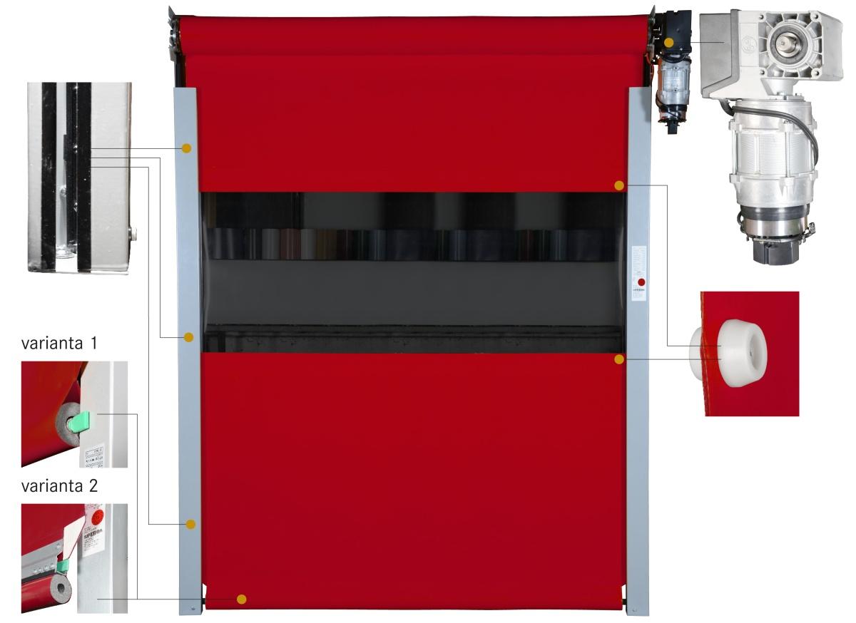 Průmyslová, moderní vrata na zakázku Beroun bezporuchový a tichý provoz