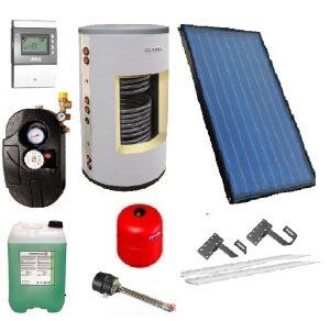 Solární panely včetně solárních zásobníků na teplou vodu - montáž kolektorů
