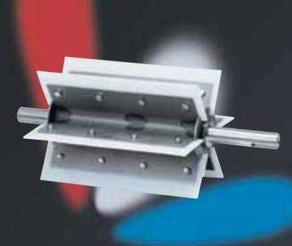 Rotor rotačních podavačů v různých provedeních - nerezové, teplovzdorné