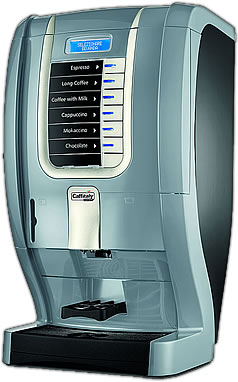 Coffee machines using Expresso capsules, drink dispensers, soda bars, water producers