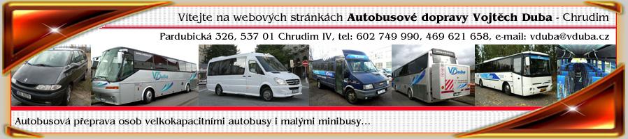Autobusová minibusová doprava tuzemská zahraniční Chrudim