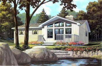 Kanadské dřevěné domy chaty bungalovy Krkonoše Trutnov