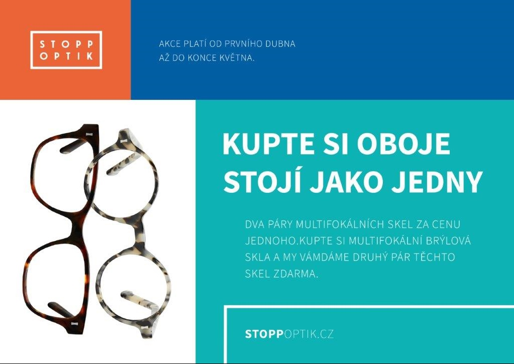 Multifokální brýlová skla - výhodná akce Valašském Meziříčí