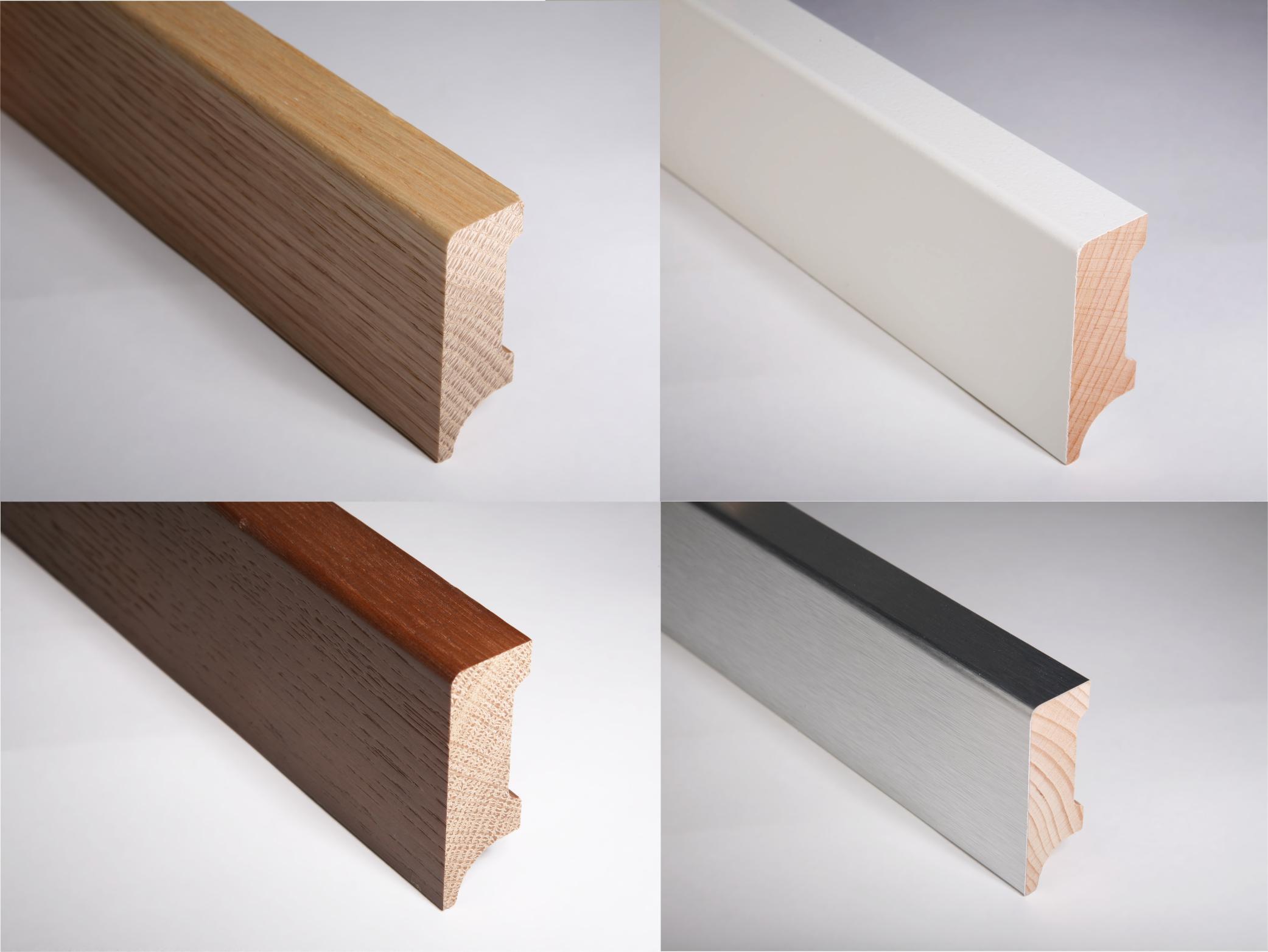 Zákazková výroba líšt z masívneho dreva, obaľované lišty