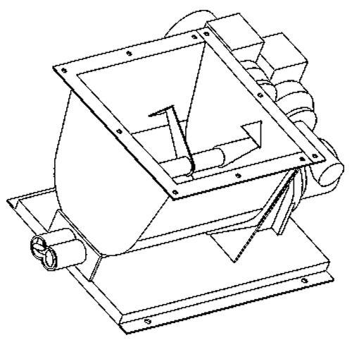 Dopravní a manipulační zařízení - Dvoušnekový dávkovač
