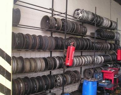 litá kola i pneumatiky z vrakoviště