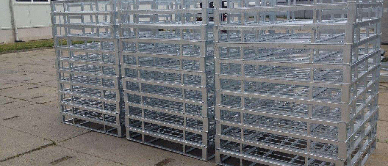 Výroba kovových palet na míru, ocelové kontejnery na plynové lahve