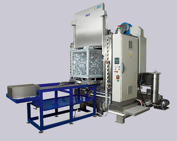 Výroba strojů a zařízení pro odmašťování součástí - komorový postřikový stroj
