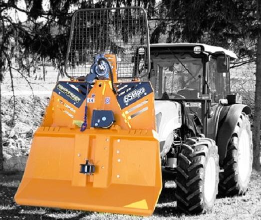 Lesní lanový naviják UNIFOREST  - lesnické navijáky pro traktory s hydraulickým i mechanickým ovládáním