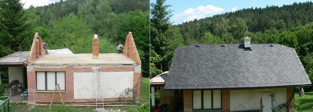 rekonstrukce celé střechy