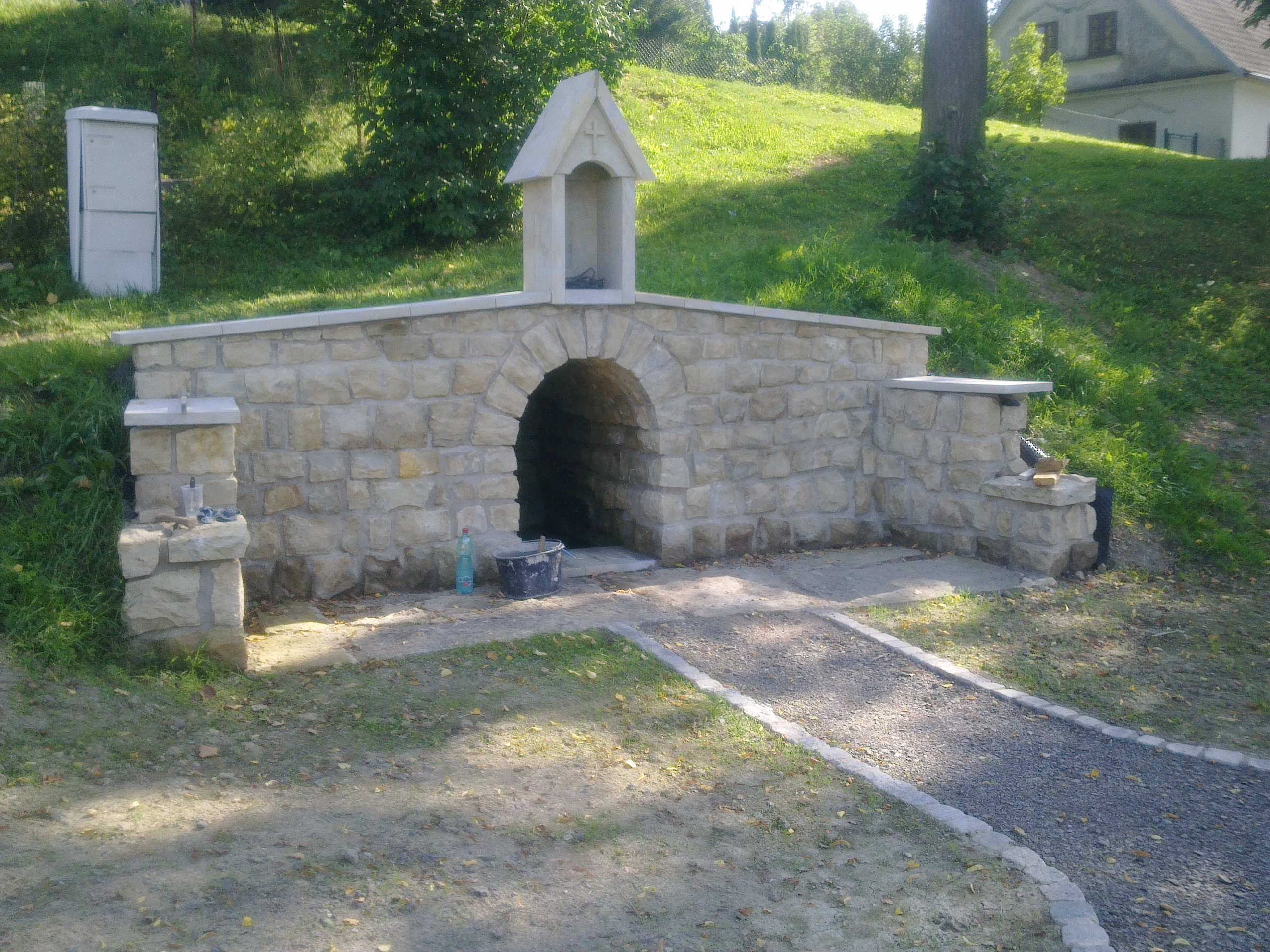 Studánka v obci Vlčkov
