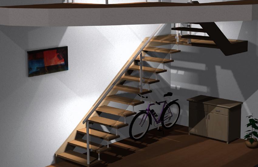 Vypracováváme pro vás projekty schodišť v systému CAD