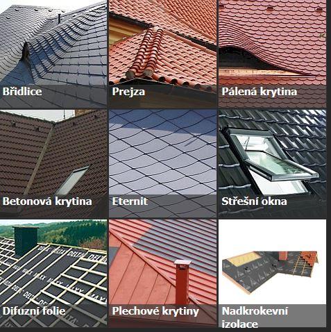 Používané střešní materiály Praha
