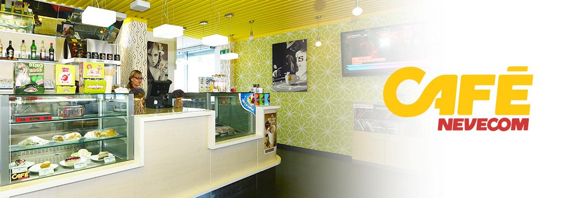 Nevecom Café - nekuřácká kavárna Kladno s dětským koutkem a venkovním posezením