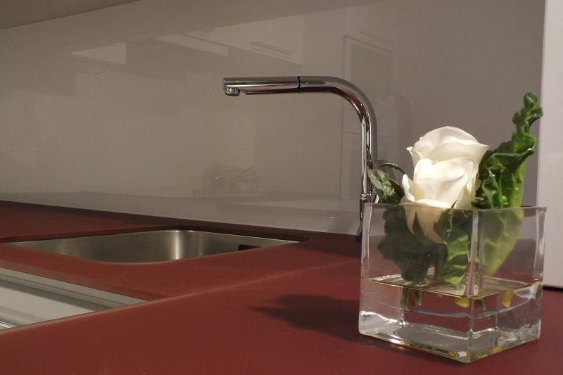 Skvělé hygienické vlastnosti skleněné pracovní desky