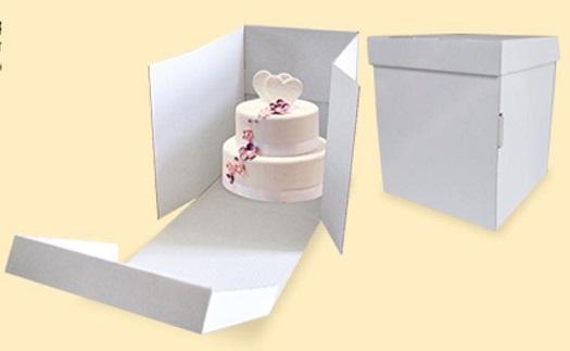 Klopové dortové krabice na vysoké patrové dorty - lepší manipulace i bezpečnost při převozu
