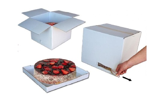 Dortová krabice s trhací páskou na větší dorty Praha