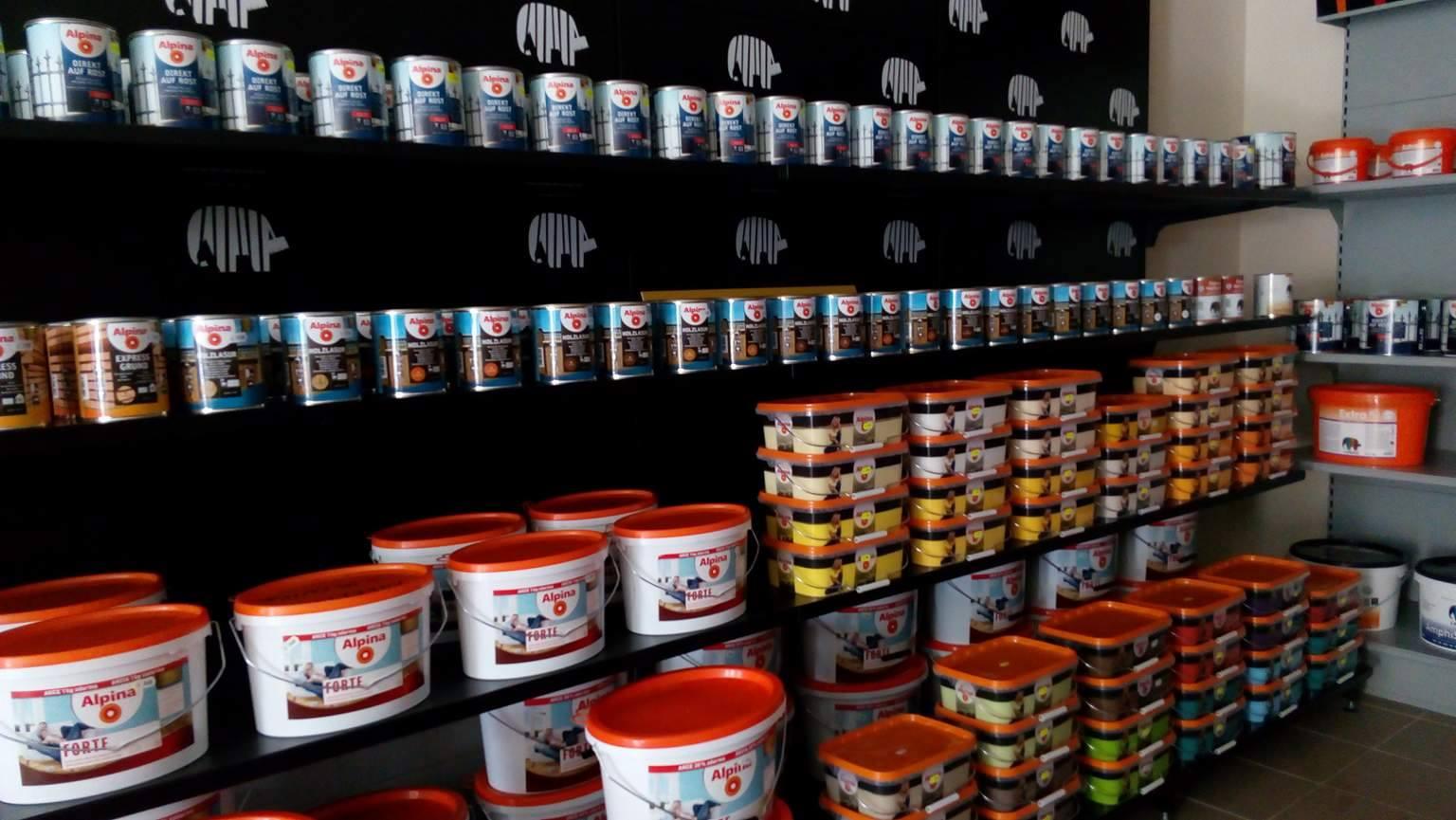 lazury a další výrobky Caparol - Alpina