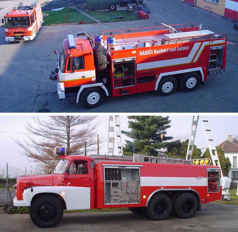 Opravy požárních vozidel a modernizace hasičský vozů