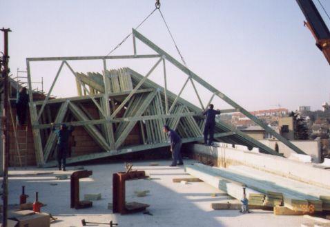 Stěnové dílce dřevostaveb prodej montáž sbíjené vazníky Žamberk