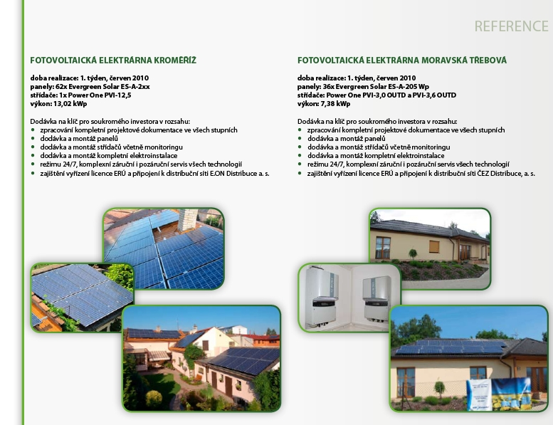 Fotovoltaické elektrárny na klíč, bioplynové stanice Zlín, Hulín