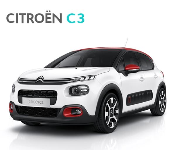 Nový vůz Citroën C3 - komfortní vůz se zabudovanou kamerou a panoramatickým střešním oknem