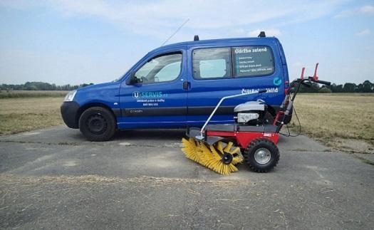 Strojní zametání - čištění ploch za pomocí zametacích strojů