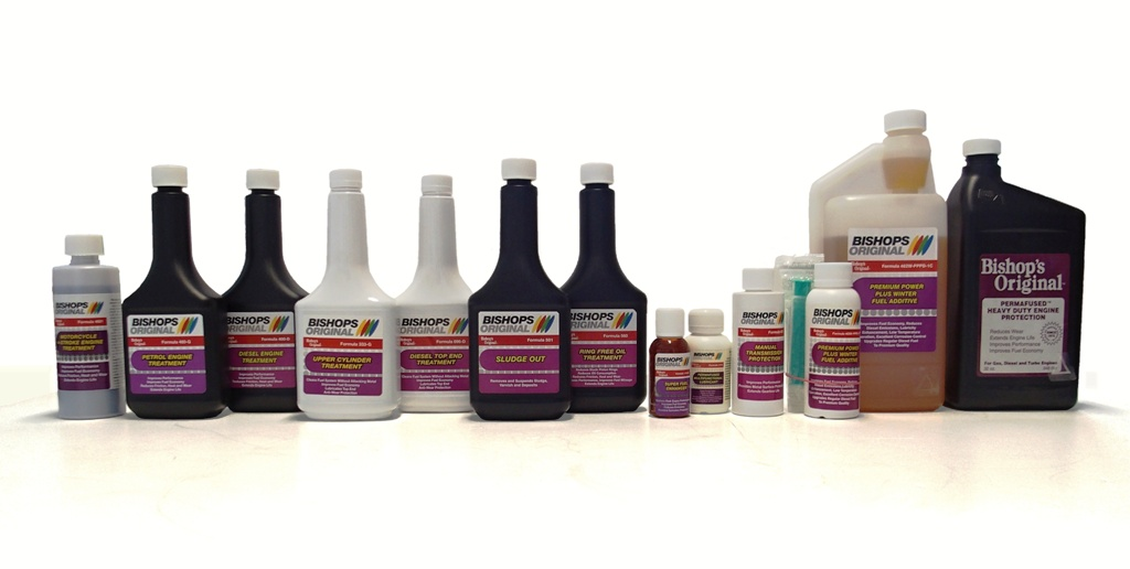 Aditiva Bishop´s Original Products - nejkvalitnější a nejúčinejší aditiva do paliv a olejů pro snížení spotřeby