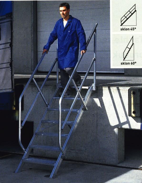 Průmyslové schody pevné