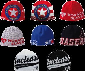 Zakázková výroba šál a čepic pro sportovní fanoušky od českého výrobce