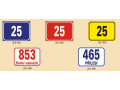 Smaltované cedule, domovní čísla, označení domů, dárkové cedule