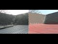 rekonstrukce střech - před a po