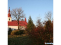 Obec Vražné, rodný dům a muzeum Johanna Gregora Mendela, kostel, sochy