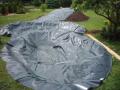Stavba hydroizolace bazénů zahradní jezírka laminovaná fólie