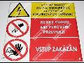 Výroba, eshop bezpečnostní tabulky, značky - smaltované tabule pro průmysl
