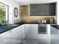 Nábytková dvířka T.classic  - nové dekory imitace betonu a dřevodekory
