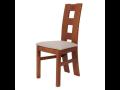 jídelní židle Libuše s dřevěným opěradlem a čalouněným sedákem