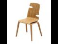 celodřevěná lamelová jídelní židle Woody