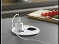 Zásuvkové boxy TWIST v černé a bílé barvě pro moderní interiéry – nízká instalační hloubka
